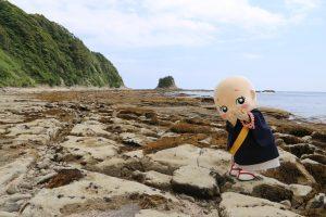 この先あたりに日蓮さまがお生まれになった場所があるんだよ~。今でも清水がわき出ているとか